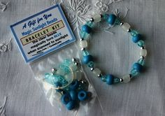 DIY BLUE Magic Sunlight Bead Bracelet Kits, Jewelry with a SURPRISE, Party Favors, Birthday, Kids Clubs, Quick & Easy Craft via Etsy