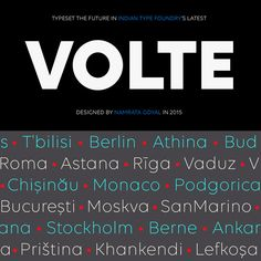 Volte Font Family from Indian Type Foundry