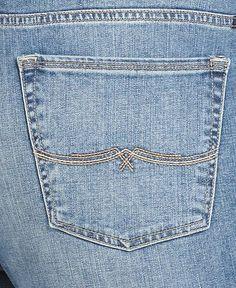 Lucky Brand Jeans Plus Size Jeans, Georgia Straight-Leg, Sandycross Wash