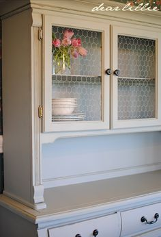 totally awesome chicken wire hutch makeover
