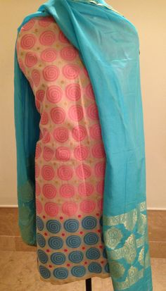 Chanderi shirt and  Maheshwari dupatta with woven zari. For orders and inquiries, please mail us at naari@aninditacreations.com.  Like us at www.facebook.com/naari.aninditacreations