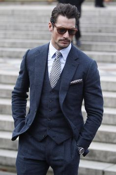 Where:Burberry Prorsum show, London, UK When:8 January 2014 Wearing:Thom Sweeney suit and Persol sunglasses