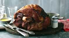 A favourite for Christmas, a baked ham is an easy way to feed a crowd. Many hams don't need soaking these days, so ask your butcher if you're not sure.