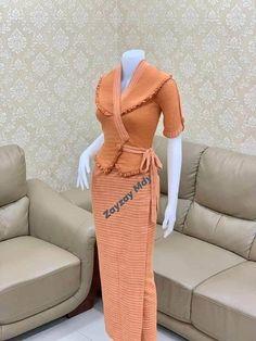 Traditional Dresses Designs, Myanmar Dress Design, Dress Pesta, Myanmar Traditional Dress, Preteen Fashion, Sunday Dress, Thai Dress, Classy Dress, Indian Outfits