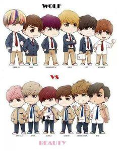 EXO - EXO-K Wolf vs. EXO-M Beauty