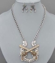 Emmalee this reminds me of you :)   Country Girl Fashions, LLC - Double Pistol Pendant Necklace