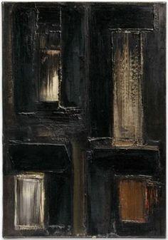 Soulages (French, b. Peinture 55 x 38 cm, 7 octobre Oil on canvas, 55 x 38 cm. Art Google, Art Day, Art Inspo, Oil On Canvas, Monochrome, Contemporary Art, Abstract Art, Sculptures, Auction