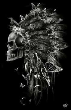 Love the headdress not the scull