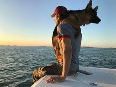 Enrique and his new pup Max