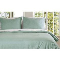 Microfiber Water- and Stain-Resistant Duvet Cover Mini Set, Green