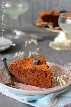Fondant chocolat au fromage blanc Marquise, World Recipes, Flan, Biscuits, Samar, Banana Bread, Buffet, Sweet Tooth, Deserts