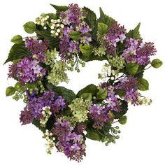 Wayfair 20 Faux Lilac Wreath #affiliate