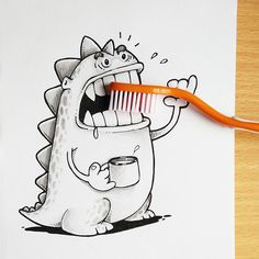 cute-dragon-doodles-interact-3d-objects-drogo-manik-ratan-4