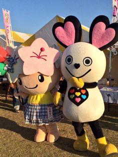 ☆世界キャラクターさみっとin羽生2014☆ミヤリーちゃん&ナイチュウ