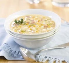 Corn chowder, the perfect snow day lunch!