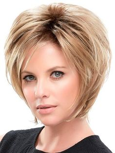 "Straight 10"" Blonde Synthetic Layered Hairstyles For Short Hair (SKU: XW04006) - Short Wigs - Wigs"