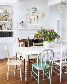 This charming space is filled with a century's worth of family heirlooms.