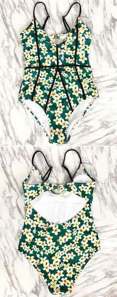 Make waves this summer with Cupshe Young And Vigor Print One-piece Swimsuit. Padded cups and adjustable shoulder straps help you feel comftable. Metal buckle at back, stips of black cloth at front are super flattering. Shop the it today.