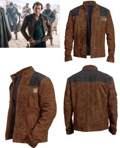 Han Solo A Star Wars Story Stylish Alden Costume Suede Leather Jacket SALE