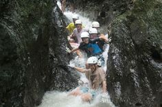 Tour company: Get a cool, refreshing shower in our Lost Canyon canyoneering near the Arenal Volcano - oh and a 210 ft rappel down a waterfall. Adventure Company, Rappelling, Volcano, Niagara Falls, Costa Rica, Waterfall, Wildlife, Lost, Explore