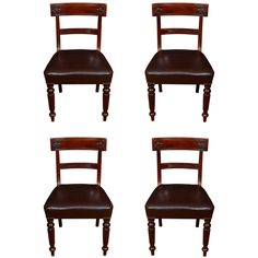 1stdibs | A Set of 14 George IV Mahogany Dining Chairs from Bath, UK