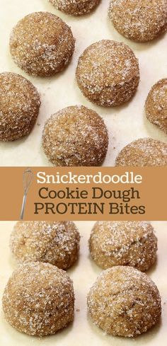 Delicious and easy! Snickerdoodle Cookie Dough Protein Bites Mix by Andréa's Protein Cakery.