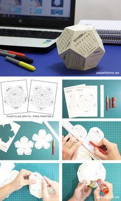 Calendario-3D-imprimir-cartulina-con-plantillas-Calendar