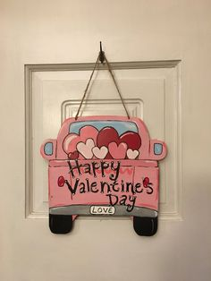 A personal favorite from my Etsy shop https://www.etsy.com/listing/584800691/valentines-truck-wooden-door-hanger