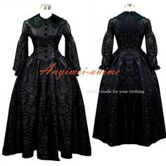 Free Shipping Victorian Rococo Medieval Gown Ball Dress Gothic Punk Cosplay…