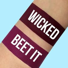 Love WICKED? You need BEET IT. It's a NEW Velvetines shade that's available as part of the Limited Edition Trio Set exclusively on limecrime.com. Click to shop!