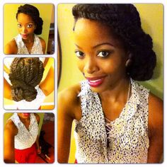 Natural hair style with Havana twists/Instagram:@Msnaturallymary. Check out my YouTube channel! Go subscribe to Msnaturallymary (;