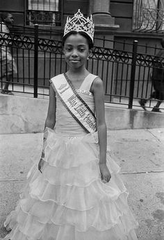 "Photo: Harvey Stein. ""Little Miss Princess.""Harlem Collective is now on Facebook.   VINTAGE BLACK GIRL MAGIC 