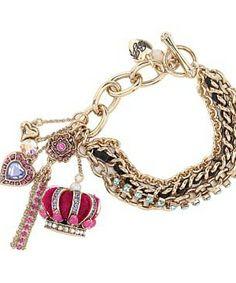 Betsey Johnson Crown Toggle Bracelet #accessories  #jewelry  #bracelets  https://www.heeyy.com/suggests/betsey-johnson-crown-toggle-bracelet-pink/