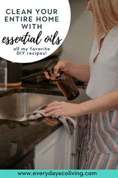 Have you ever wondered if cleaning with essential oils actually works? For the longest time, I was s. Natural Cleaning Recipes, Natural Cleaning Products, Essential Oils Cleaning, Essential Oil Blends, Wild Orange Essential Oil, Natural Lifestyle, Healthy Lifestyle, Healthy Detox, Sustainable Living