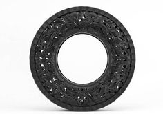 Amazing & intricate carved tires #tires #recycle #repurpose Pin it to save it!