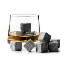 9pcs Whisky Ice Stones Drinks Wine Cooler Cubes Whiskey Beer Cube Stone Scotch Rocks Granite & Pouch With Velvet Bag Cheap Z1