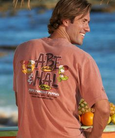 Abe & Hal - Chile-Dyed The Classic Crew Crazy Shirts, Chile, Crew Neck, Tees, Classic, Mens Tops, T Shirt, Fashion, Derby