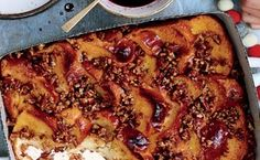 Baked French Toast with Pecan Crumble.  This is SO GOOD and our go-to now any time we have a special occasion brunch.  YUM