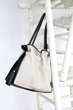 Black & white leather bag 2015