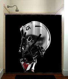 Ohio State Buckeyes College Football Helmet Shower Curtain Bathroom Home  Decor