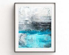 Art digital print abstract wall art decor instant download printable art blue modern white wall decor framed abstract print modern artwork