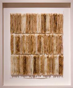 Barbara Bartlett - Synchronicitea 19 x 16 x 1 tea bags, glue, paper