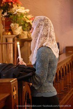 Catholic Veil, Roman Catholic, First Communion Veils, Communion Dresses, Mantilla Veil, Chapel Veil, Bride Of Christ, Christianity, Pray