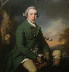 William Sixth Baron Craven by Francis Cotes (1726-1770) - 1768. Great outdoor wear.