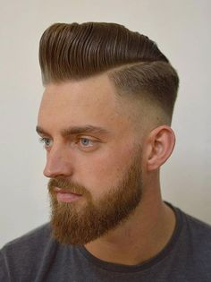 Classic Pompadour Skin Fade *** See the whole article at >>> http://haircutinspiration.com/pompadour-hairstyle #pompadour #hairstyle #men