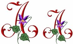 Wild Violets Font Letter A, Goes with the Wild Violets Designs
