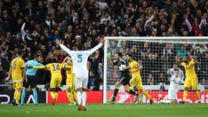 Gianluigi Buffon of Juventus reacts after a penalty is awarded to Real Madrid during the UEFA Champions League Quarter Final Second Leg match between Real Madrid and Juventus at Estadio Santiago Bernabeu on April 11, 2018 in Madrid, Spain.