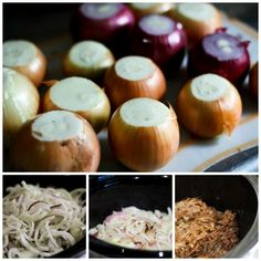 The stages of Slow Cooker Caramelized Onions at www.foodiewithfamily ...