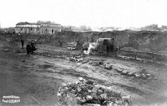 1925 ? chantier de construction de la gare Limoges-Bénédictins