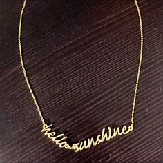 "Kate Spade Necklace ""Hello Sunshine"" gold necklace. Excellent condition. Comes with baggy. kate spade Jewelry Necklaces"